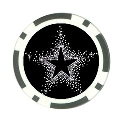 Sparkling Bling Star Cluster Poker Chip by artattack4all