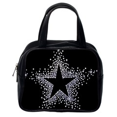 Sparkling Bling Star Cluster Single Sided Satchel Handbag by artattack4all
