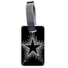 Sparkling Bling Star Cluster Single Sided Luggage Tag by artattack4all