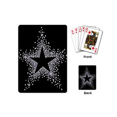 Sparkling Bling Star Cluster Playing Cards (mini) by artattack4all