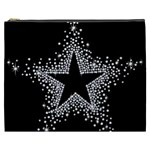 Sparkling Bling Star Cluster Cosmetic Bag (XXXL) Front