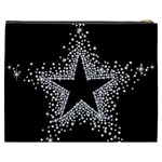 Sparkling Bling Star Cluster Cosmetic Bag (XXXL) Back