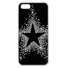Sparkling Bling Star Cluster Apple Seamless Iphone 5 Case (clear) by artattack4all