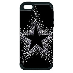 Sparkling Bling Star Cluster Apple Iphone 5 Hardshell Case (pc+silicone) by artattack4all