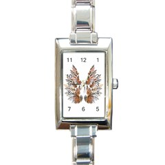 Brown Feather Wing Classic Elegant Ladies Watch (rectangle) by artattack4all