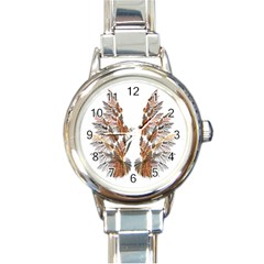 Brown Feather Wing Classic Elegant Ladies Watch (round) by artattack4all