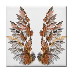 Brown Feather Wing Ceramic Tile by artattack4all