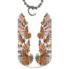 Brown Feather Wing Single Sided Dog Tag by artattack4all