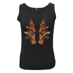 Brown Feather Wing Black Womens'' Tank Top by artattack4all