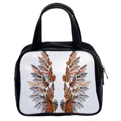 Brown Feather Wing Twin Sided Satched Handbag by artattack4all