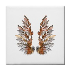 Brown Feather Wing Face Towel by artattack4all