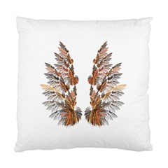 Brown Feather Wing Twin Sided Cushion Case by artattack4all