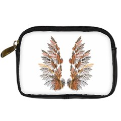 Brown Feather Wing Compact Camera Case by artattack4all