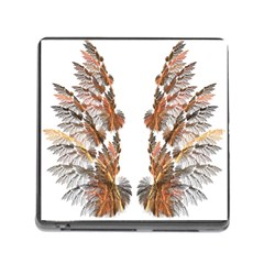 Brown Feather Wing Card Reader With Storage (square) by artattack4all