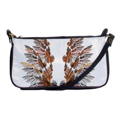 Brown Feather Wing Evening Bag by artattack4all
