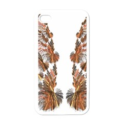 Brown Feather Wing White Apple Iphone 4 Case by artattack4all