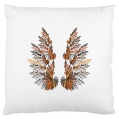 Brown Feather Wing Large Cushion Case (two Sides) by artattack4all