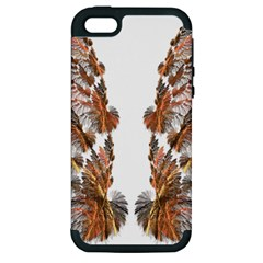 Brown Feather Wing Apple Iphone 5 Hardshell Case (pc+silicone) by artattack4all