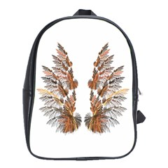 Brown Feather Wing School Bag (xl) by artattack4all