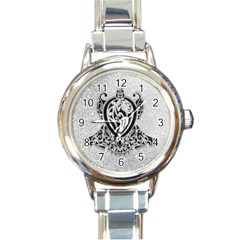 Diamond Bling Lion Classic Elegant Ladies Watch (round) by artattack4all