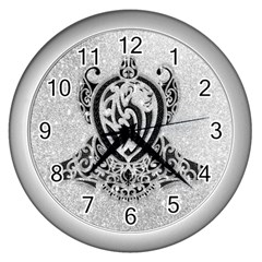 Diamond Bling Lion Silver Wall Clock by artattack4all