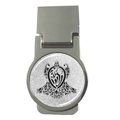 Diamond Bling Lion Money Clip (round)