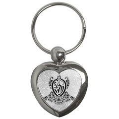 Diamond Bling Lion Key Chain (heart) by artattack4all