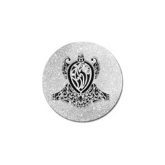 Diamond Bling Lion 4 Pack Golf Ball Marker by artattack4all