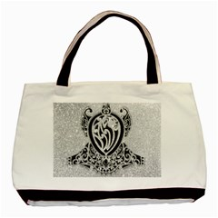 Diamond Bling Lion Twin Sided Black Tote Bag by artattack4all