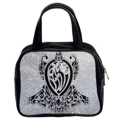 Diamond Bling Lion Twin Sided Satched Handbag by artattack4all