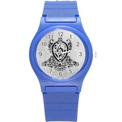 Diamond Bling Lion Round Plastic Sport Watch Small by artattack4all
