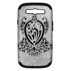 Diamond Bling Lion Samsung Galaxy S Iii Hardshell Case (pc+silicone) by artattack4all