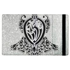 Diamond Bling Lion Apple Ipad 2 Flip Case by artattack4all