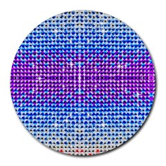 Rainbow Of Colors, Bling And Glitter 8  Mouse Pad (round) by artattack4all