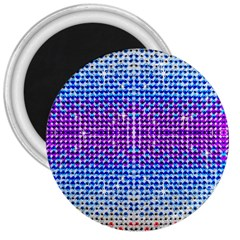 Rainbow Of Colors, Bling And Glitter Large Magnet (round) by artattack4all