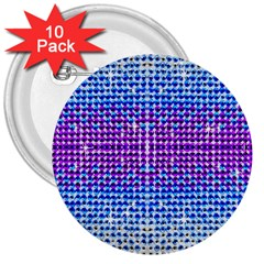 Rainbow Of Colors, Bling And Glitter 10 Pack Large Button (round) by artattack4all
