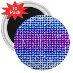 Rainbow Of Colors, Bling And Glitter 10 Pack Large Magnet (round) by artattack4all