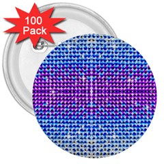 Rainbow Of Colors, Bling And Glitter 100 Pack Large Button (round) by artattack4all
