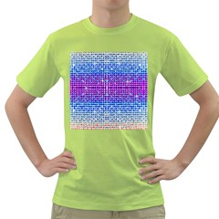 Rainbow Of Colors, Bling And Glitter Green Mens  T Shirt by artattack4all