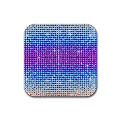 Rainbow Of Colors, Bling And Glitter Rubber Drinks Coaster (square) by artattack4all