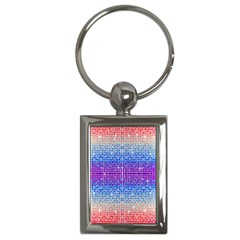 Rainbow Of Colors, Bling And Glitter Key Chain (rectangle)