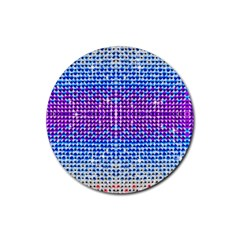 Rainbow Of Colors, Bling And Glitter Rubber Drinks Coaster (round) by artattack4all