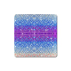 Rainbow Of Colors, Bling And Glitter Large Sticker Magnet (square)