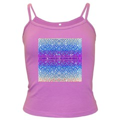 Rainbow Of Colors, Bling And Glitter Dark Colored Spaghetti Top