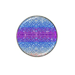 Rainbow of Colors, Bling and Glitter Golf Ball Marker (for Hat Clip) by artattack4all