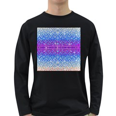 Rainbow Of Colors, Bling And Glitter Dark Colored Long Sleeve Mens'' T Shirt by artattack4all