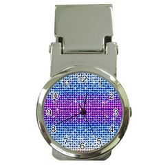 Rainbow Of Colors, Bling And Glitter Chrome Money Clip With Watch by artattack4all