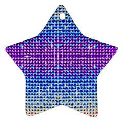 Rainbow Of Colors, Bling And Glitter Twin Sided Ceramic Ornament (star) by artattack4all