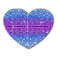 Rainbow Of Colors, Bling And Glitter Mouse Pad (heart) by artattack4all