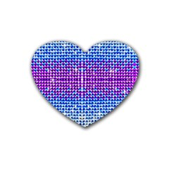 Rainbow Of Colors, Bling And Glitter 4 Pack Rubber Drinks Coaster (heart) by artattack4all